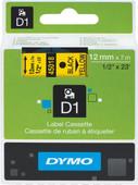 Dymo D1 Étiquettes de nom Jaune-Noire (12 mm x 7 m) 1 Rouleau