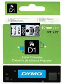 Dymo D1 Étiquettes de nom Noir-Blanc (19 mm x 7 m)