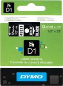 DYMO D1 Ruban Blanc-Noir (12 mm x 7 m)
