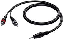 Procab CAB711 2x RCA Male - 3,5 mm Mini Male Jack 3 Meter