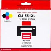 Pixeljet CLI-551XL 4-Kleuren Pack voor Canon printers (6509B009)