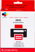 Pixeljet 26 XL Lot de 4 couleurs pour imprimantes Epson (C13T26364010)