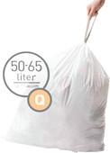 Simplehuman Trash Bags Code Q - 50-65 Liters (60 units)