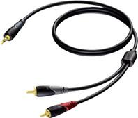 Procab CLA711/3 3,5mm male - 2x RCA 3 meter