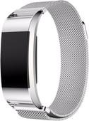Just in Case Fitbit Charge 2 Bracelet de montre Milanais Argent