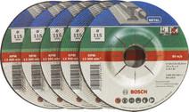 Bosch Disque à meuler Métal 115 mm 5 pièces