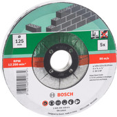 Bosch Grinding Disc Stone 125 mm 5 pieces