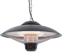Sunred Sirius Noir Suspendu - lamp LED + télécommande