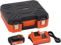 Powerplus Dual Power Chargeur de batterie + Batterie lithium-ion 20 V 1,5 Ah