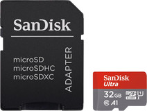 SanDisk microSDHC Ultra 32GB 98MB/s CL10 A1 + SD adapter