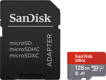 SanDisk MicroSDXC Ultra 128GB 100MB/s CL10 A1 + SD Adapter