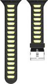 Just in Case Bracelet de montre en Silicone pour Apple Watch 38 mm Noir/Jaune