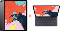 Apple iPad Pro (2018) 12,9 inch 256 GB Wifi Space Gray + Apple Smart Keyboard Folio AZERT