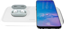 ZENS Dual Fast Chargeur sans fil 10W Blanc