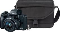 Kit de démarrage - Canon EOS M50 Noir + 15-45 mm IS STM + sacoche + carte mémoire + chiffo