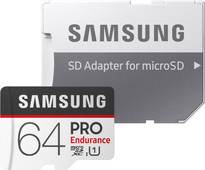 Samsung micro SDXC PRO Endurance 64 Go 100 MB/s + Adaptateur SD
