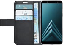 Azuri Wallet Magneet Samsung Galaxy A6 (2018) Book Case Zwart