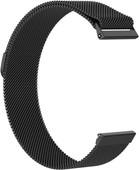 Just in Case Fitbit Versa Bracelet de montre Milanais Noir