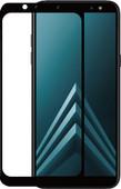 Azuri Protège-écran en Verre Trempé pour Samsung Galaxy A6 (2018) Lot de 2 Noir