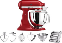 KitchenAid Artisan 5KSM175PS Rouge empire + Kit rouleau à pâtes