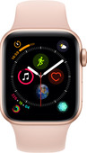 Apple Watch Series 4 40 mm Bracelet sportif Or Aluminium/Rose