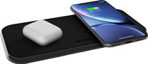 ZENS Dual Chargeur sans fil en Aluminium 10 W Noir
