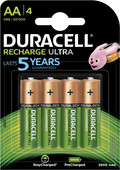 Duracell Recharge Ultra AA batteries 4 pieces
