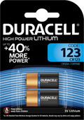 Duracell High Power Pile lithium 123 3V 2 pièces