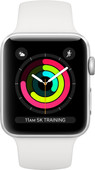 Apple Watch Series 3 38 mm Argent Aluminium/Blanc