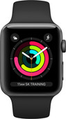 Apple Watch Series 3 38mm Space Gray Aluminium/Zwart