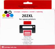 Pixeljet 202 XL Lot de 5 pour imprimantes Epson (C13T02G74010)