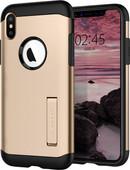 Spigen Slim Armor Apple iPhone Xs / X Back Cover Gold