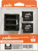 Jupio Kit: Battery GoPro HERO5 / 6/7 & HERO (2018) battery (2x) + USB Triple Charger