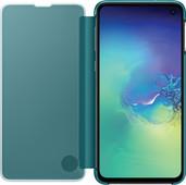 Samsung Galaxy S10e Clear View Cover Book Case Groen