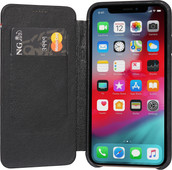 Decoded Leather Slim Wallet Apple iPhone X / Xs Book Case Black