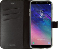 Valenta Booklet Gel Skin Samsung Galaxy A6 (2018) Book Case Zwart