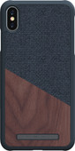 Nordic Elements Frejr Apple iPhone Xs Max Back Cover Donkergrijs/Hout