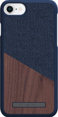 Nordic Elements Frejr Apple iPhone 6/6s/7/8 Back Cover Blauw/Hout