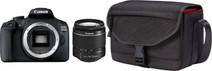 Canon EOS 2000D + 18-55mm f/3.5-5.6 DC III + Sacoche + 16 Go carte mémoire