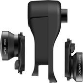 Olloclip Clip pour Apple iPhone Xr  + Set d'objectifs Fisheye, Macro et Grand angle
