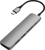 Satechi Adaptateur Multiports V2 Type-C Fin Gris