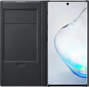 Samsung Galaxy Note 10 Led View Book Case Zwart