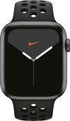 Apple Watch Nike Series 5 44 mm Aluminium Gris sidéral/Bracelet Sport Noir