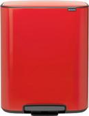 Brabantia Bo Pedal Bin 2 x 30 Liter Passion Red