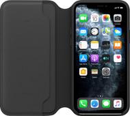 Apple iPhone 11 Pro Max Folio Cuir Noir