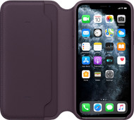 Apple iPhone 11 Pro Max Folio Cuir Aubergine