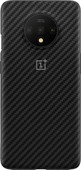 OnePlus 7T Karbon Bumper Case Back Cover Black