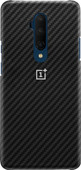 OnePlus 7T Pro Karbon Protective Case Back Cover Zwart