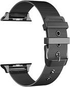 Just in Case Apple Watch 42/44mm Mesh Bandje Zwart