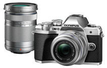 Olympus OM-D E-M10 Mark III + 14-42mm + 40-150mm Travelkit Zilver